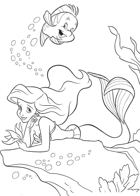 Детские раскраска русалочка