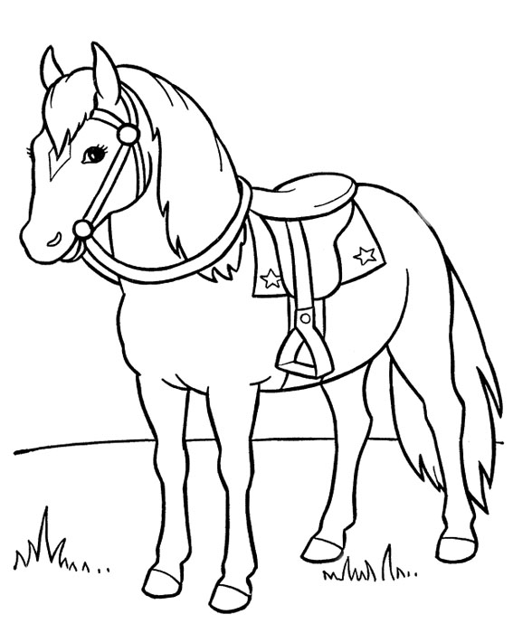 Печатать раскраски лошади